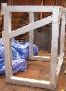 Galvanised frame and rock breaker arm